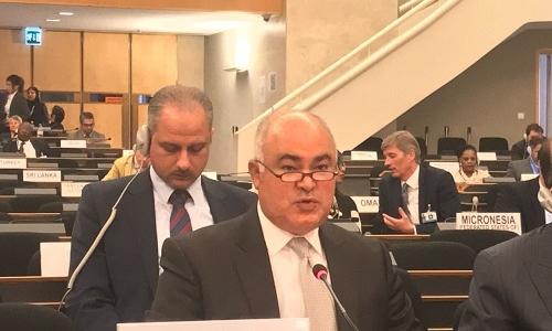 الممثل الدائم لجمهورية العراق يُلقي بيان المجموعة العربية في جنيف