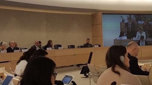 السيد الممثل الدائم  يترأس حواراً تفاعلياً  لمجلس حقوق الإنسان حول الحق في التنمية والتقارير المواضيعية