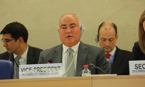 السيد الممثل الدائم  يترأس حواراً تفاعلياً حول تقرير لجنة التحقيق الدولية المستقلة بشأن الجمهورية العربية السورية